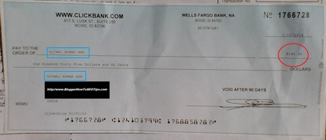 How Blogger Got ClickBank Cheque in India | Blogger SEO Tips and Tricks | Scoop.it