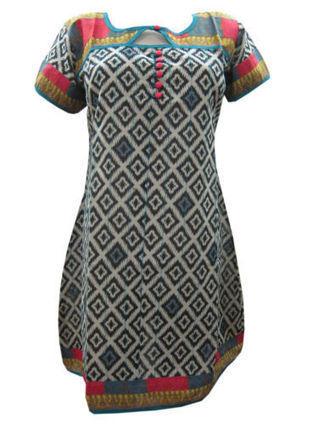 Bohemian Printed Kurta Top Blouse Black & White Womans Long Cotton Kurta S | Bohemian Fashion | Scoop.it