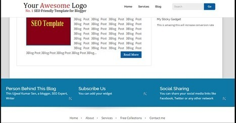 Very Fast Loading Blogger template Fully Responsive & SEO Friendly | Blogger SEO Tips and Tricks | Scoop.it