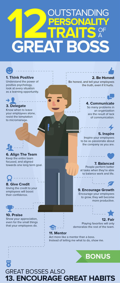 12 Personality traits of a great boss [Infographic] | Education technology | Scoop.it