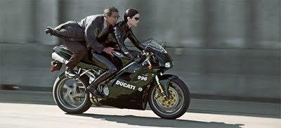 Trinity and her black Ducati 996 | Vintage Motorbikes | Scoop.it