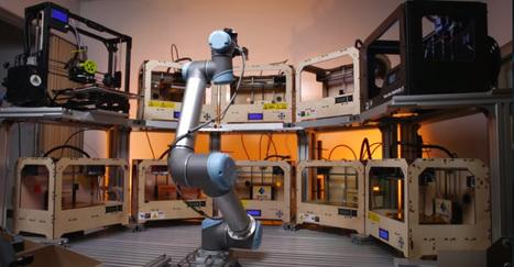 Ce robot gère tout seul une dizaine d'imprimantes 3D - Tech | FabLab - DIY - 3D printing- Maker | Scoop.it