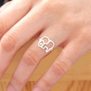 Cute Simple Hollow Elephant Silver Ring just $15.9 in ByGoods.com | Design | Scoop.it
