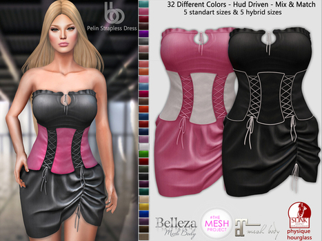 Pelin Strapless Dress Discount For Group Members - NessMarket | 亗 Second Life Freebies Addiction & More 亗 | Scoop.it