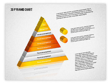 Layered 3D Pyramid | PowerPoint Diagrams, Charts, and Shapes | Scoop.it