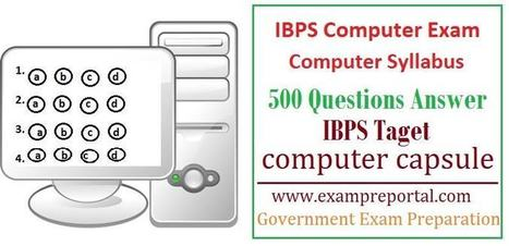 IBPS bank exam computer question answer , computer capsule | Voyage Inde Autrement | Scoop.it