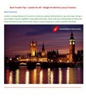 Best Traveler Tips - London for All – Budget As Well As Luxury Travelers | Australia Hotels and Resorts | Scoop.it