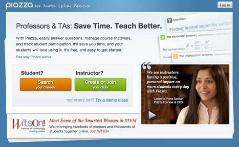 Piazza - The New, Free Way to Q&A for Classrooms | Creative ideas for the Efl class making use of Icts | Scoop.it