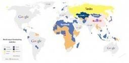 La carte des sites web les plus visités dans le monde | chiffres e-tourisme | Scoop.it