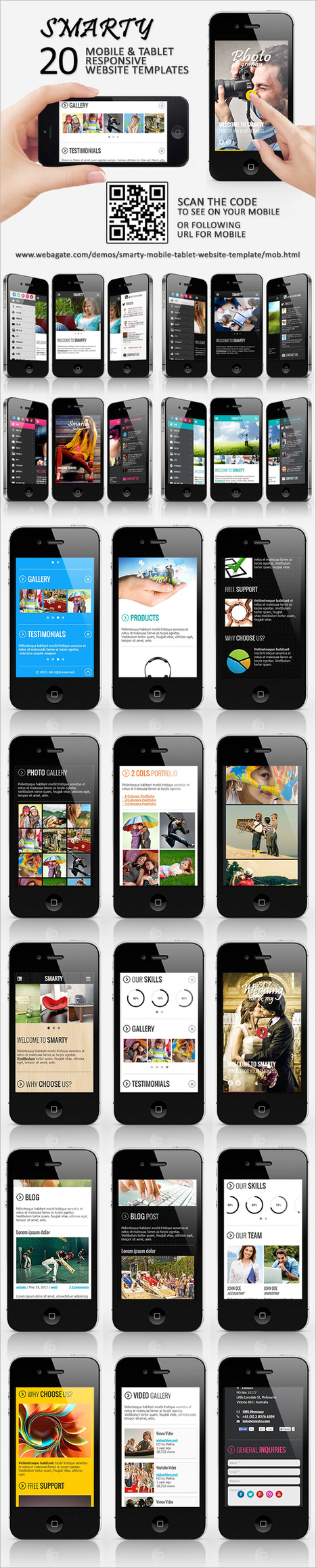 Smarty   Mobile & Tablet Responsive Web Template (Mobile)   Site Templates Download   Scoop.it