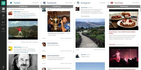 How To Gather Your Twitter, Facebook, Instagram & YouTube Feeds In One Place | Digital Media Community | Scoop.it