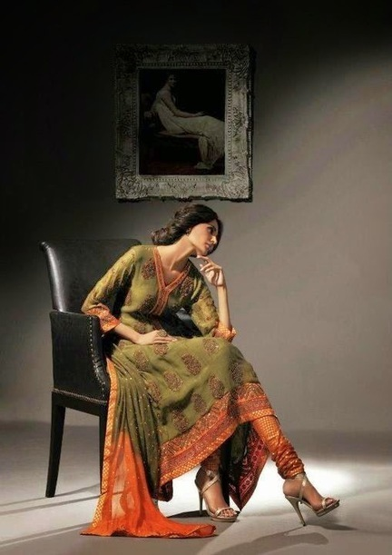 Khaadi Lawn Collection for Mid Summer 2014 | Collection of Pakistani and Indian Dresses | Scoop.it