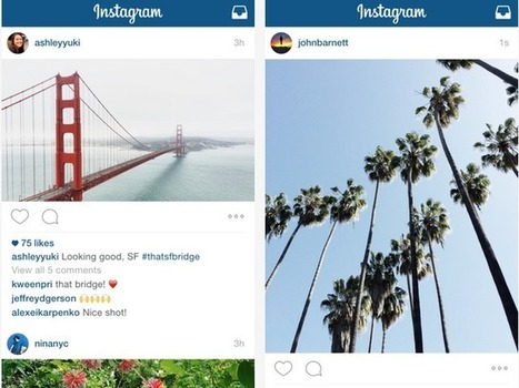 Think Outside the Box: Instagram Lets You Go Landscape, Portrait | MarketingHits | Scoop.it
