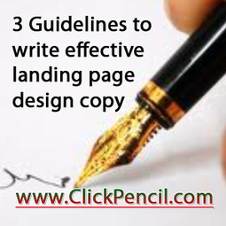 3 Guidelines to write effective landing page design copy | Landing page design | Scoop.it