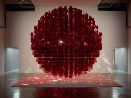 installation art - Julio Le Parc:  Red sphere | Vulbus Incognita Magazine | Scoop.it