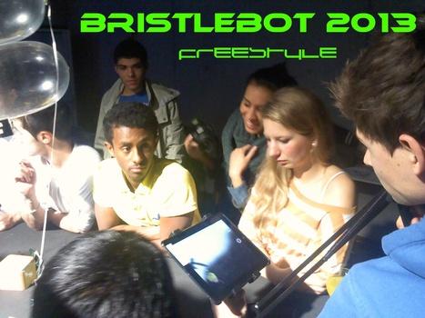 Echtzeitübertragung auf Großbildleinwand   FOSfuture BristleBot   Scoop.it