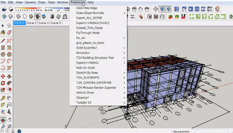 Demo of sketchup exporter to WebGL – An useful script for sketchup users | BIM Forum | Scoop.it
