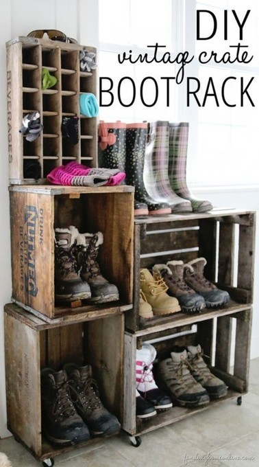 Creative Ideas on How to Re-purpose Old Wooden Crates | Homesthetics | Scoop.it