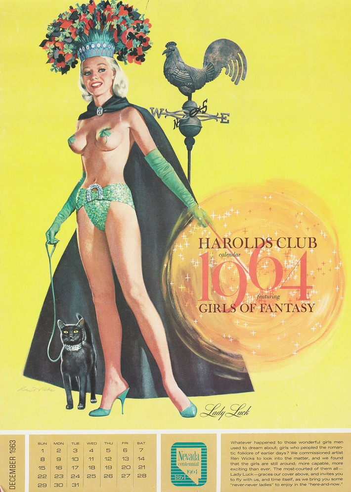 Harold's Club 1964 Calendar Featuring Girls Of Fantasy | Antiques & Vintage Collectibles | Scoop.it