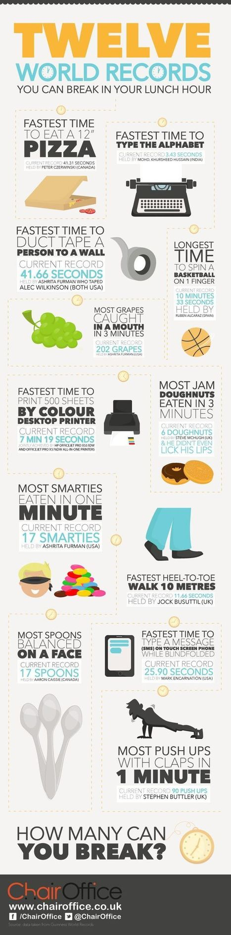 World Records You May Want to Break {Infographic} - Best Infographics | Digital-News on Scoop.it today | Scoop.it