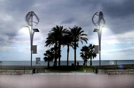 Alex Infante: Instalación de las primeras farolas eólicas en el paseo marítimo de Málaga | lámparas | Scoop.it