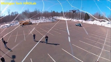 Drone-catching hexacopter fires a large net to reel in suspicious aircraft | Gizmag | Cultibotics | Scoop.it