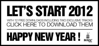 Le'ts Start 2012 avec Because Music 12 titres gratos !   L'actualité de la filière Musique   Scoop.it