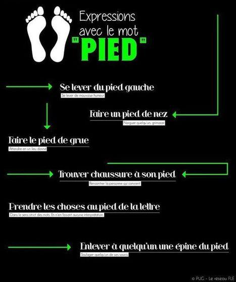 Expressions avec le mot ·PIED· | Resources pour apprendre Français | Scoop.it