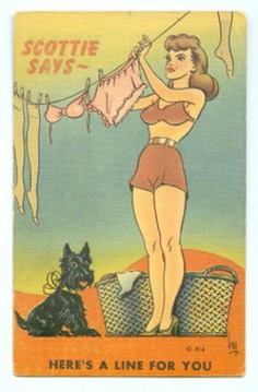 """A Slip of a Girl: """"Scottie Says ~ Here's A Line For You"""" 
