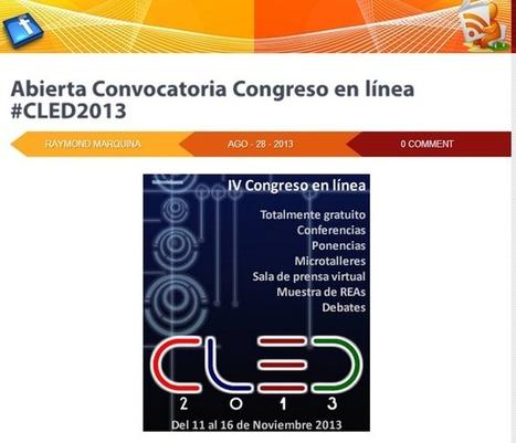 Congreso en línea CLED 2013 | RedDOLAC | Scoop.it