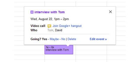 Google Agenda : Les Hangouts intégrés aux évènements | Time to Learn | Scoop.it