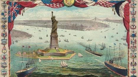 17 juin 1885 : la Statue de la Liberté débarque à New York | Remue-méninges FLE | Scoop.it
