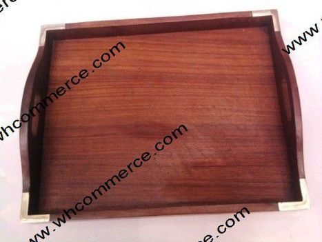 Wooden Serving Tray | Wooden Basket | Scoop.it