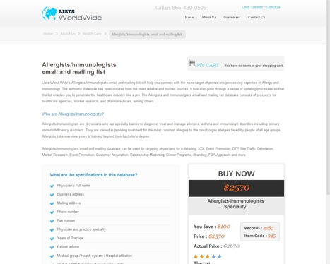 Accurate Immunologists Mailing Lists from ListsWorldWide   ListsWorldWide   Scoop.it