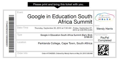 Ticket   Google conference   Scoop.it