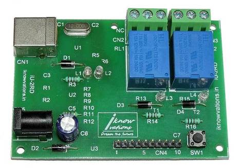 2 channel USB Relay & DAQ board iU-2RD launched. | Serial LCD | Scoop.it
