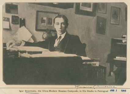 ✯ • Igor Stravinsky, in his studio in Petrograd (1916)...   Observatorio Cultural   Scoop.it