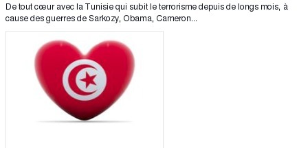 De tout cœur avec la Tunisie qui subit le terrorisme depuis de longs mois | Actualités Afrique | Scoop.it