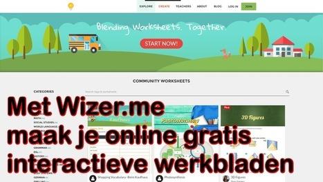 Edu-Curator: Met 'Wizer' maak je gratis prachtige interactieve werkbladen en/of lessen voor je leerlingen | Mediawijsheid in het VO | Scoop.it