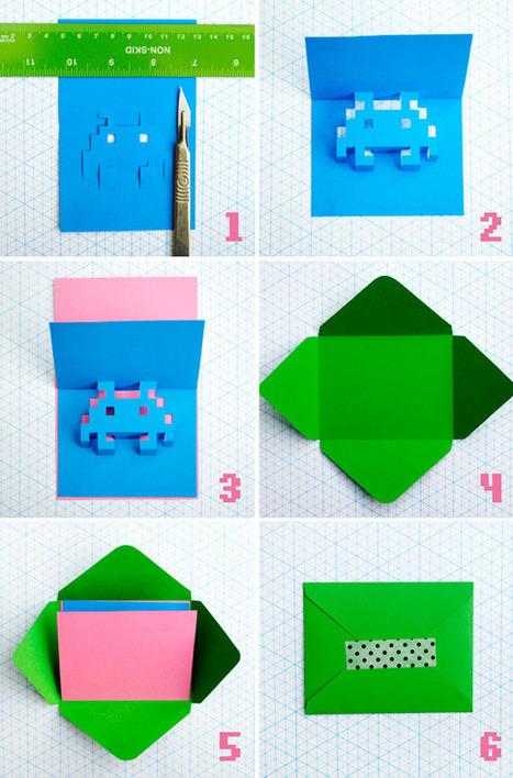 8-bit popup cards   Mini-eco   Heron   Scoop.it