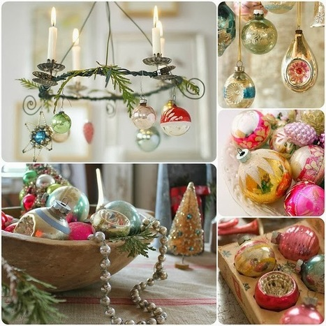 Mosaic Monday - Christmas Decorating with Vintage Glass Balls | Christmas | Scoop.it