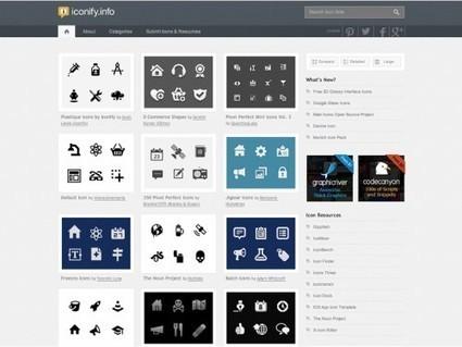 Iconify, un répertoire avec des centaines d'icônes à télécharger gratuitement | Autour du Web | Community Management | Scoop.it