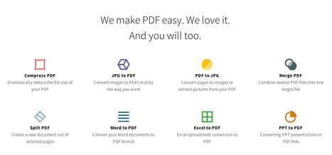 Smallpdf.com - A Free Solution to all your PDF Problems | SteveB's Social Learning Scoop | Scoop.it