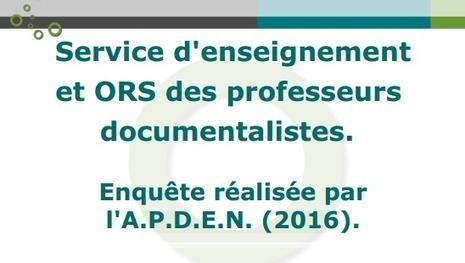 Les professeurs documentalistes et les heures d'enseignements : visions académiques des ORS[APDEN] | Innovation en BM et CDI | Scoop.it