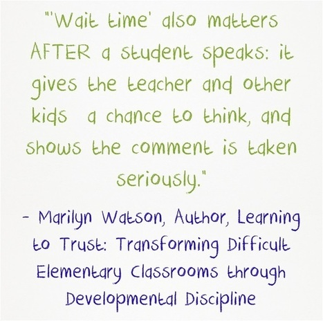 Wait Time 1 vs. Wait Time 2 | DEEPER Literacy Focused Instruction | Scoop.it