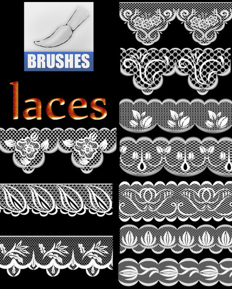 brushes-lace47821 | Photoshop CS5 Downloads from 22Pixels | Crazy 4 Photoshop | Scoop.it