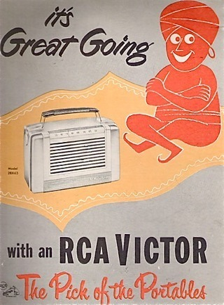 RCA Victor Portable Radio Ad | Antiques & Vintage Collectibles | Scoop.it