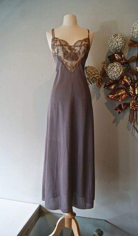 Vintage 70s Emilio Pucci Lingerie Nite Gown Dress Signature   vintage lingerie   Scoop.it