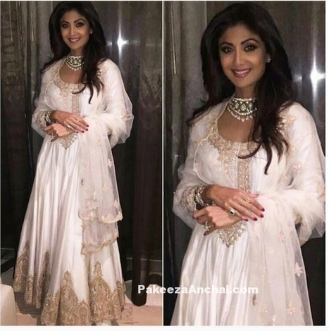 Shilpa Shetty in Rimple and Harpreet Narulas Long Anarkali Suit | Indian Fashion Updates | Scoop.it