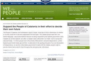 Falten menys de 5.000 peticions perquè la Casa Blanca es faci ressò de la consulta catalana | ELS ULLS DEL MÓN | Scoop.it